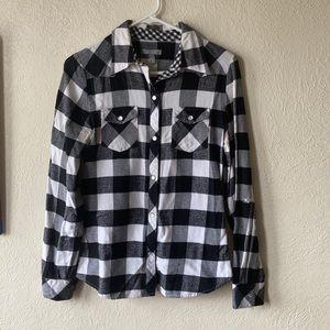 Flannel top//Delia's//size M